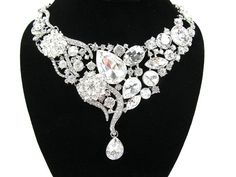 Chunky Rhinestone Crystal Bridal Statement by bloomsnbrides, $78.00