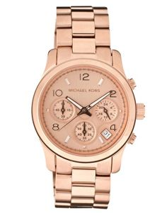 Love You Forever Gift - Michael Kors Rose Gold Plated Chronograph Watch