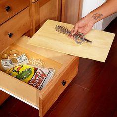 False-Bottom Drawer - 20 Secret Hiding Places: http://www.familyhandyman.com/home-security/20-secret-hiding-places