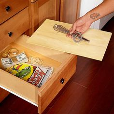 False-Bottom Drawer Hideaway