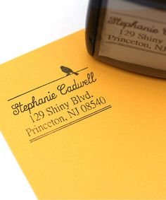 Love this Little Bird 1.63'' Personalized Self-Inking Stamp on #zulily! #zulilyfinds