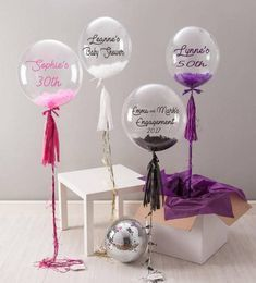 Personalised giant clear feather balloon,first birthday,baby shower,cake smash,bubble balloon,party gift/first birthday/christening/baptism