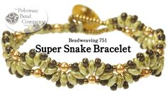 """This beadweaving video from The Potomac Bead Company teaches you how to make our """"Super Snake"""" bracelet, using two hole SuperDuo beads, Miyuki seed beads, gl..."""