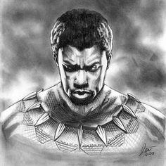 R.I.P. @chadwickboseman aka king tchalla       #art #chadwickboseman #blackpanther #artist #blackpanthermovie #artwork #marvel #wakandaforever #drawing #chadwickbosemano #michaelbjordan #instaart #tchalla #illustration #arte #blackpantherfanart #sketch #superhero #artsy #blackpanthersolit #painting #wakanda #arts #portraitdrawing #artistsoninstagram #fckcancer #ripblackpanther #marvel #comic #munichartist Michael B Jordan, Marvel, Black Panther, Insta Art, Artsy, Fan Art, Superhero, Comics, Drawings