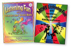 MOVEMENT & LISTENING KITS: Listening Fun & More Set - Both active listening books by these two masters, Fee and Gagne. Engage your kids in classical music by listening activily with movement props--ball, streamers, scarve, parachutes, ribbons, paper plates and more. Project composer bios, listening logs, routines, dynamics, form and texture visuals and more in Powerpoint and QuickTime programs.