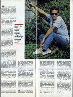 """Ney Matogrosso: """"Confissões de um Bugre"""" - entrevista na revista """"Manchete"""" de 1986 - página 2/2."""