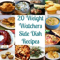 20 Side Dish Weight Watchers Recipes; also has links for WW recipes for breakfast, lunch, dinner, desserts, and snacks