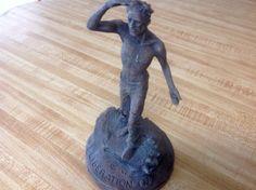 Richard Becker P.O.W. Liberation Statue Sculpture signed