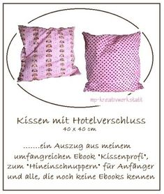 kissen mit hotelverschluss n hen pinterest hat men. Black Bedroom Furniture Sets. Home Design Ideas