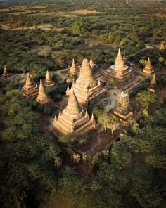 AERIAL DRONE OF BAGAN'S PAGODAS Aerial Drone, Bagan, Temple, Travel, Viajes, Temples, Destinations, Traveling, Trips