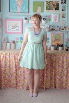 Scathingly Brilliant: sea green and periwinkle