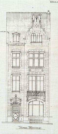 Ixelles - Rue Washington 117 - TAVERNIER A.