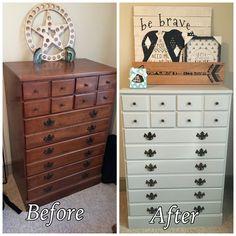 Vintage Ethan Allen Dresser Painted Grey