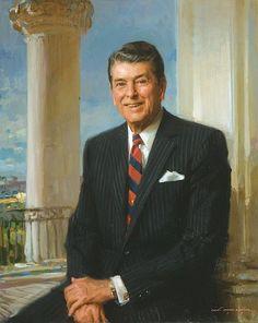 Ronald Reagan's official White House portrait