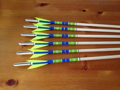 English longbow crested clout arrows