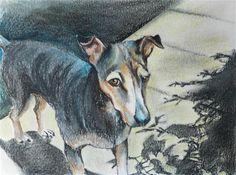 "Daily Paintworks - ""Dog sketch 3"" - Original Fine Art for Sale - © Daryl West"