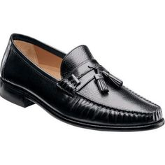 $185, Florsheim Brookfield Tassel Black Calfskindeerskin Tassel Loafers. Sold by Shoebuy. Click for more info: https://lookastic.com/men/shop_items/178057/redirect
