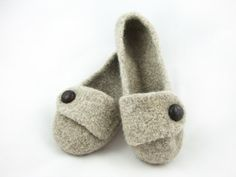 Barley Womens Felted Wool Slippers by wildtreedesign on Etsy https://www.etsy.com/listing/68383740/barley-womens-felted-wool-slippers
