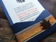 Burlap Wedding Invitation Barn Country or Fall by decadentdesigns, $4.00