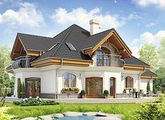 Dzierlatka III styl z garażem 2-st. [A] - zdjęcie 2 4 Bedroom House Designs, Duplex House Design, Duplex House Plans, Dream House Plans, Modern House Design, Home Building Design, Building A House, Style At Home, Residential Architecture