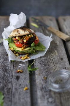Grilled Portabello Burgers w Seriously Sensational Superfood Salsa