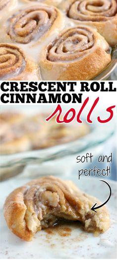 Homemade Crescent Rolls, Crescent Roll Recipes, Crescent Cinnamon Rolls, Crescent Roll Deserts, Homemade Cinnamon Rolls, Brownies, Easy Cooking, Cooking Recipes, Bread Recipes