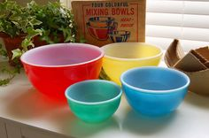 These Fire King mixing bowls are on my wish list.