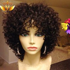 Short Human Hair Wigs Brazilian Human Hair Short Curly Wigs For Black Women Human Short Curly Hair lace Front Wig With Baby Hair