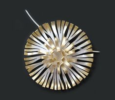 Central tipped pendant by  SARAH HUTCHISON-UK- Sterling Silver, 24ct Gold Plate www.sarahhutchison.co.uk/