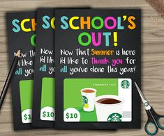 End of school year / gift idea for teacher / gift card holder / last minute gift / end of school year