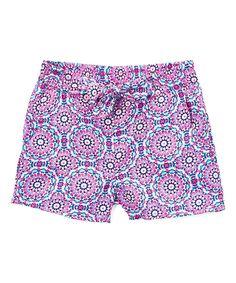 Pink Floral Shorts - Girls