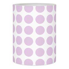 Soft Purple Polka Dots Flameless Candle