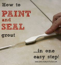 How to make dirty old grout look brand new. - I have to try this, my grout is disgusting and this seems like the perfect solution!