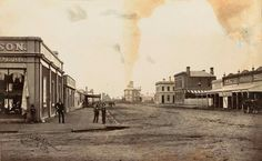 Main Street of Horsham Victoria 1886 Melbourne Victoria, Victoria Australia, Main Street, Street View, Victorian History, Historical Pictures, Vintage Images, Old Photos