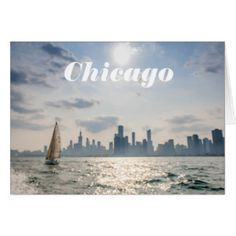 Chicago gifts and souvenirs of your vacation to the Windy City. This photo was taken from a boat tour at Navy Pier and overlooks the Chicago Skyline.     People watching, boats and the water are a main attraction at Navy Pier.
