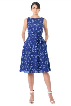 1adacc616 Floral print contrast piped trim crepe dress. Vestido De CrepéVestidos  FloreadosModa ...