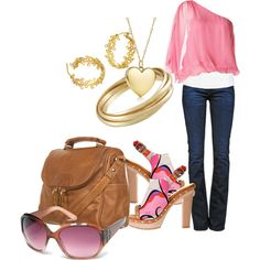 """Pink Sunglasses"" by deborah-simmons on Polyvore"