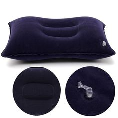 BangGood - Eachine1 Blue Air Travel Camping Inflatable Pillow Protect Bed Comfortable Rest Head Neck Cushion - AdoreWe.com