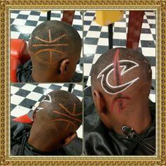 Cavs Logo by Ken Ware Ultimate Hairstyles Barbershop & Salon Chattanooga TN USA www.ultimatebarbershop.wordpress.com