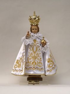 Infant Of Prague, Jesus Clothes, Church Of Our Lady, Catholic Religion, A Child Is Born, Baby Jesus, Blessed Mother, Sacred Art, Mother Mary