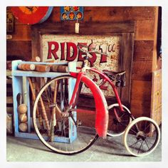Portland Salvage: Vintage tricycle and croquet set — a recipe for fun!