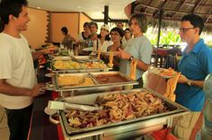 turtle beach lodge buffet   - Costa Rica