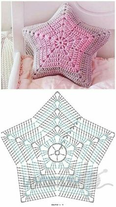 Decorative Pillows 52768 Receive more than 3 thousand crochet and amigurumi recipes in your email. Tap the image to learn Crochet Pillow Pattern, Crochet Motifs, Crochet Diagram, Crochet Doilies, Crochet Stitches, Free Crochet, Knit Crochet, Knit Pillow, Crochet Crafts