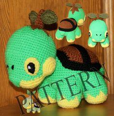 Crochet Pokemon Turtwig  Pattern in PDF by Hafik on Etsy, $4.90