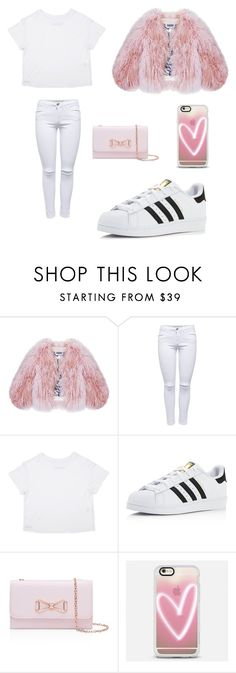 """Untitled #10"" by aleksandra-protasova on Polyvore featuring Florence Bridge, adidas, Ted Baker and Casetify"