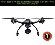 YUNEEC Q500 4K Typhoon Quadcopter with CGO3-GB Camera Bundle with Accessories (21 Items) #4k #plans #kit #technology #fpv #shopping #racing #yuneec #parts #products #q500 #tech #gadgets #drone #camera