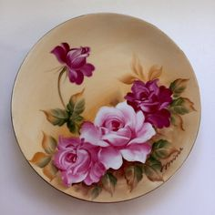 Vintage Handpainted Roses Norcrest Japan China Plate Beautiful Handpainted vintage Norcrest Japan plate. It is an 8.50 inch (21.59 cm) decorative