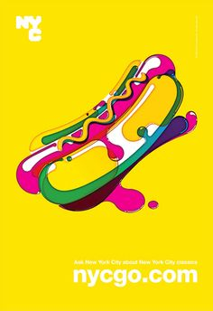 2010 NYC Go poster by Steven Wilson #Graphic Design Poster