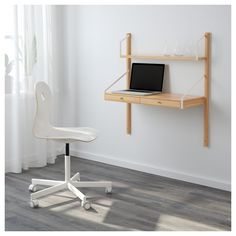 IKEA   SVALNÄS Wall Mounted Workspace Combination Bamboo