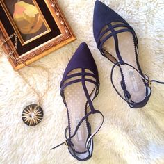 NWT Boden T-Strap Navy Suede Flats HOST PICK! Wardrobe Refresh Party & Essential Style Party!NO TRADES. OFFERS WELCOME. PLEASE USE THE OFFER BUTTON. I do not negotiate price in the comments. Brand new, in box, navy flats from Boden. Size 38.5. Genuine suede upper. Leather lining. Man-made sole. Super cute and comfy! Boden Shoes Flats & Loafers